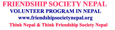 Friendship society Nepal, Volunteer program, Internship Program, sponsor child, donations, Nepal,